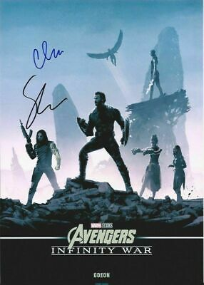 "Sebastian Stan & Chris Evans - Autograph Photo 8x12""- Avengers Infinity War -COA"