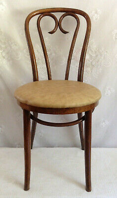Antique Thonet RADOMSKO Bentwood Cafe Chair~Labeled~Padded Seat-Made in POLAND*