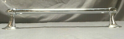 "Vintage 20"" Chrome Bullet End Towel Bar Art Deco  130-19L"