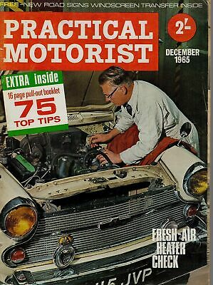 1965 DECEMBER No 4 Vol 12 52606 Practical Motorist Magazine