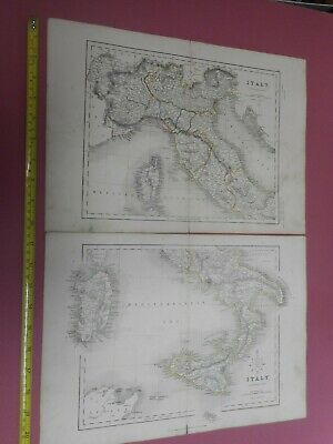 100% Original Northern Southern  Italy Maps X2 By H G Collins C1856  Low Start