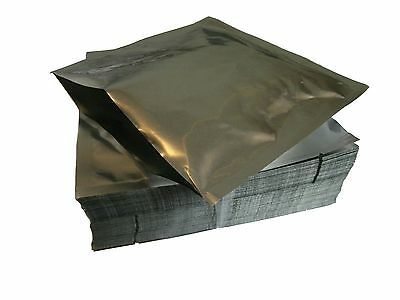 50 small 15cm by 15cm Mylar bags FDA Approved for Food Storage 3.5mil 90 microns