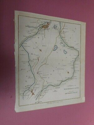 100% Original Rochdale Manchester Canal Map By Stockdale C1795 Hand Coloured