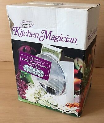 Unused Vintage Popeil Kitchen Magician Food Processor Cutter Slicer 1970 Boxed