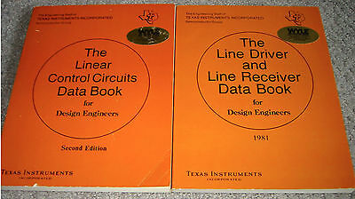 Texas Instruments 2 Data Book Set - 1980-1981 Linear Control and Line Driver