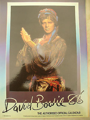 DAVID BOWIE CALENDAR 1986 rare official merchandise glossy pages