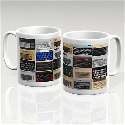 RETRO CLASSIC COMPUTERS Mug - Atari Commodore Sinclair Apple Amstrad Bbc  Oric