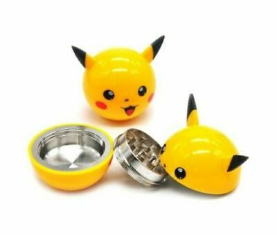Pikachu 2 Inch 3 Pieces Tobacco Spice Herb Pokemon Grinder US Seller
