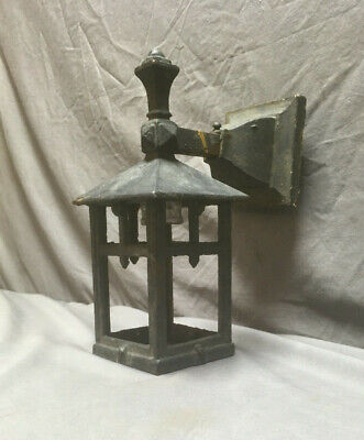 Antique Mission Cast Iron Outdoor Sconce Light Fixture Lantern 131-19L