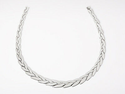 Taxco Tf-28 Sterling Silver Graduating Heavy Necklace Mexico