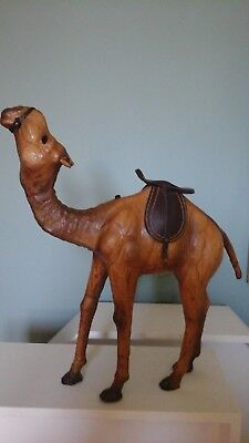 Vintage Leather Wrapped Camel with Saddle