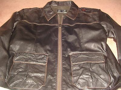 Austin Reed Leather Jacket Xl 150 00 Picclick Uk