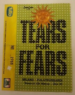 Tears For Fears Rare Ticket Gig Concert Milano 23/03/1990
