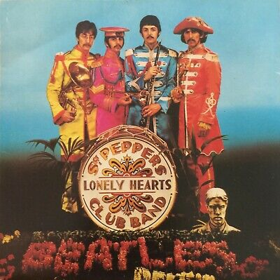 "The Beatles 7"" vinyl single record Sgt Pepper's Lonely Hearts Club Band  UK"