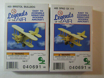 Legends Of The Air Wooden Aircraft Kits 40691 403 Bulldog 405 Spad Sx111