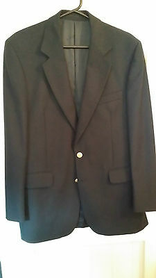 Navy Blue Blazer From House Of Aquascutum In Size 40R - With Silk Tie