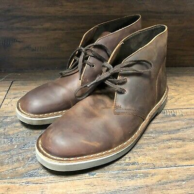 5e8b83b651 Mens Original Clarks Chukka Boots Brown Leather 15522 / Clark Shoe Size 9 M