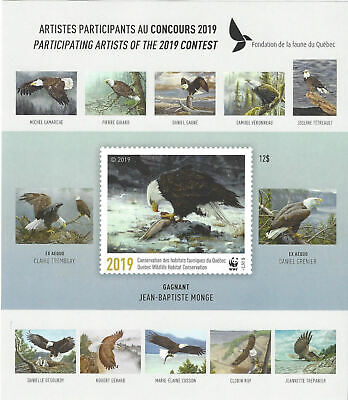 2019 Canada Quebec  Wildlife Habitat -DQ96 imperf souvenir sheet Mint NH