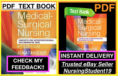 🔥TEST BANK🔥Medical-Surgical Nursing Concepts 9th Edition🔥Ignatavicius⚡️+NCLEX