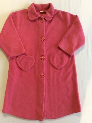 Girls Pink Vertbaudet Dressing Gown- Age approx. 4 years