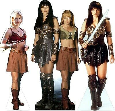 3 different XENA Gabrielle WARRIOR Princess Lifesize CARDBOARD CUTOUT Standee