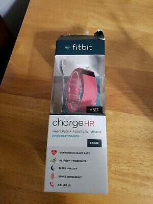 Fitbit Charge HR Wireless Activity & Heart Rate Watch - Large - Pink
