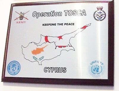 Operation Tosca Plaque - Cyprus Buffer Zone United Nations British Armed Forces