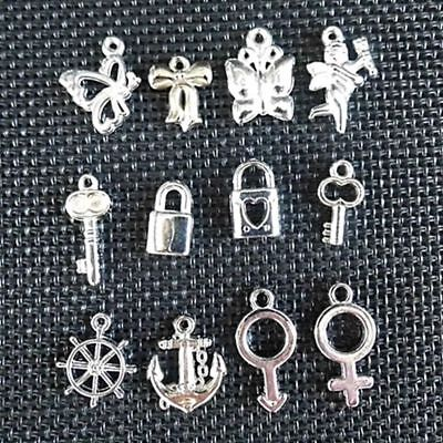 Hot 100pcs Wholesale Bulk Lots Silver Mix Plant animal Pendants Charms