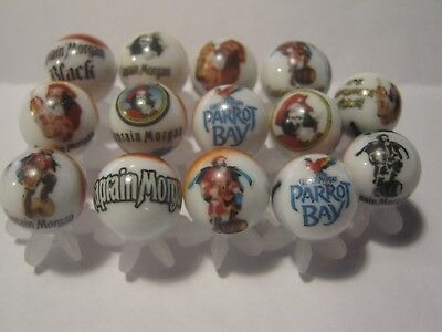 Captain Morgan Rum glass marbles 5/8 size with stands