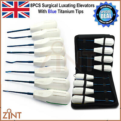 Surgical Luxating Elevators PDL Ligament Implant Surgery Dental Instruments 8Pcs