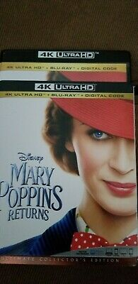 Mary Poppins returns 4K disc. Shipped in original case + slipcover