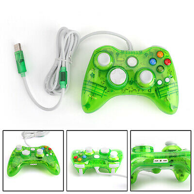 USB Wired Game Remote Controller Gamepad For Microsoft Xbox 360 Windows Green T3