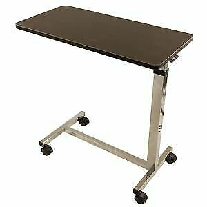Roscoe Medical Non-Tilt Overbed Table with Wheels, Adjustable Height, 1 Each