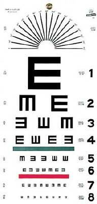 Graham Field Distance Vision Eye Chart 20 Feet Illiterate E - 1 Count