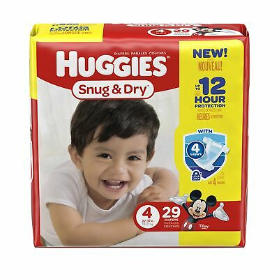 HUGGIES Snug and Dry Diapers Jumbo Pack Size 4, Case of 116