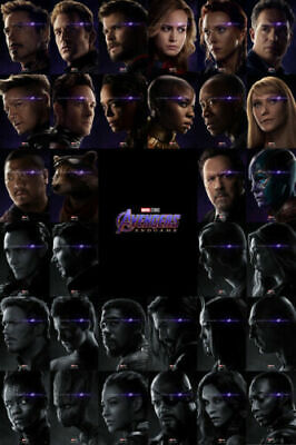 ZT1167 Hot Avengers Endgame Superheroes Movie All Characters Poster Art Decor