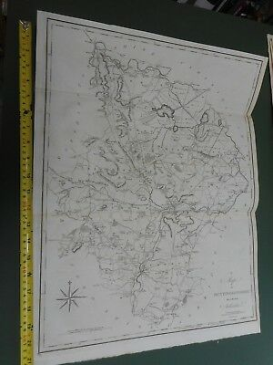 100% Original Large Huntingdonshire Map By Cary/Stockdale C1805 Vgc