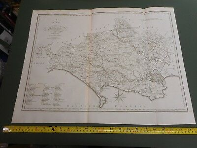 100% Original Large Dorsetshire Map By Cary/Stockdale C1805 Vgc