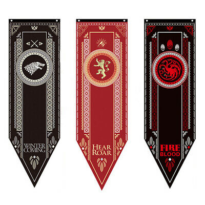 Game of Thrones House Sigil Tournament Banner Flag of Stark Targaryen Lannister