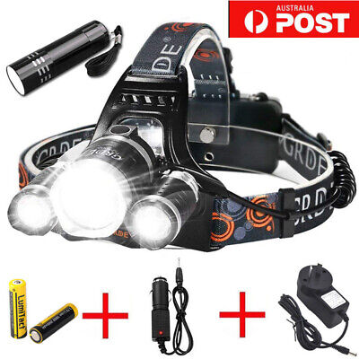 New Rechargeable LED Headlight 50000LM 3T6 XML Headlamp Torch Flashlight Hiking