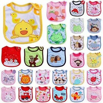 Newborn Toddler Infant Baby Boy Girl Kids Cartoon Bibs Waterproof Saliva Towel