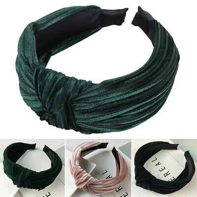 Women's Cute Headband Alice Band Top Knot Fashion Girls Plain Twist Hairband UK