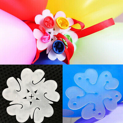 10pcs 6 in 1 Seal Clip Ballons Accessories Plum Flower Clip Sealing Clamp TDCA