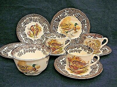 assorted 10 piece  Royal Worcester Palissy pottery / tableware game series