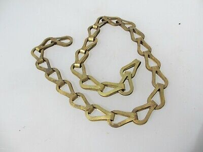 "Antique Brass Lighting Chain Hanger Loop Chandelier Light Old 25"" / 64cm"