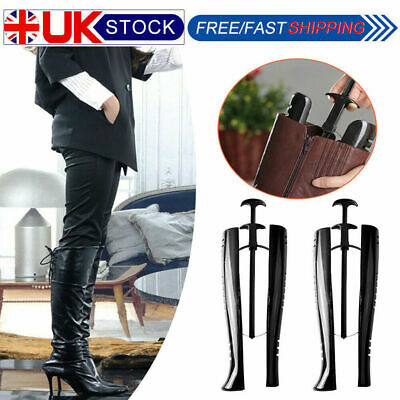 1/2/4Pair Black Long Automatic Boot Shoe Trees Shapers Stretcher Stand Holder|HT