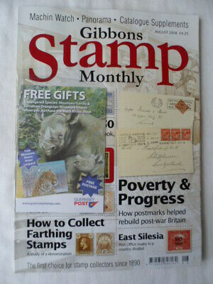 Stanley Gibbons stamp monthly magazine -  August 2018