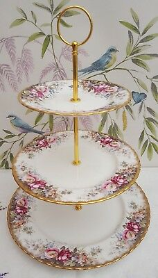 "Royal Albert ""Autumn Rose"" Ex. Large 3-tier cake stand"