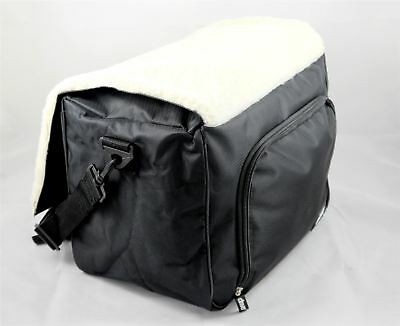 Drive Under Seat Zipped Wheelchair Storage Bag with Fleece Seat and Strap