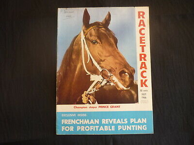 Racetrack Magazine July 1966 Prince Grant front Cover Horse racing